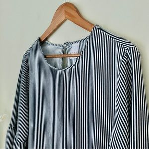 Time and Tru Tops - Ruffle Striped Blouse Size 16/18